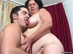 Granny Tries Anal With Young Guy^7:00